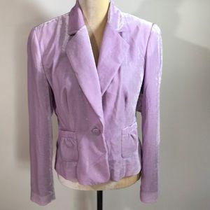 Worthington Lavender Velvet Jacket